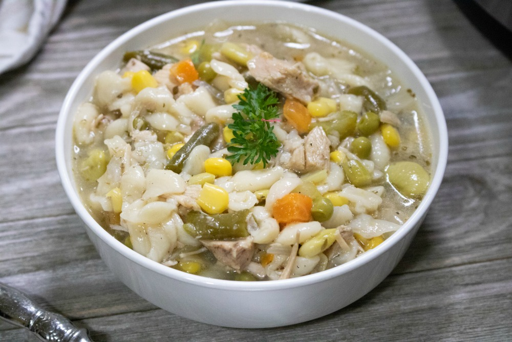 IP Turkey Vegetable Soup with Leftovers Recipe Horizontal 6