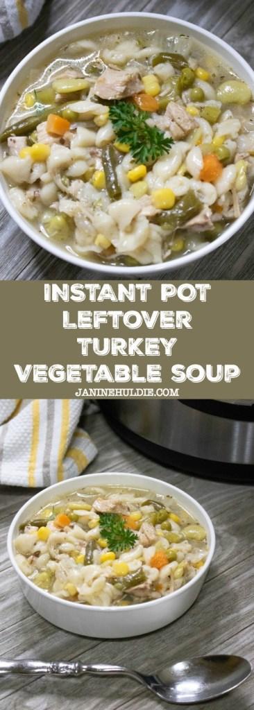 Instant Pot Leftover Turkey Vegetable Soup Recipe