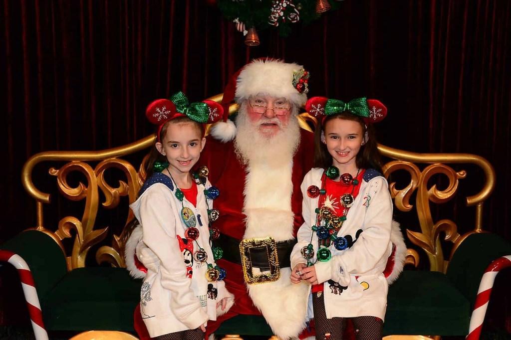Meeting Santa at Mickey's Very Merry Christmas Party 2018