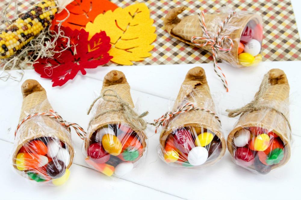 Thanksgiving Sugar Cone Cornucopia Treats Final 1