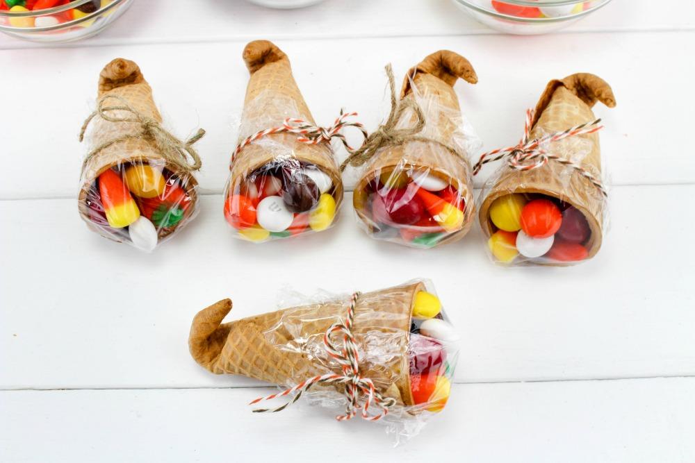 Thanksgiving Sugar Cone Cornucopia Treats In Process 6