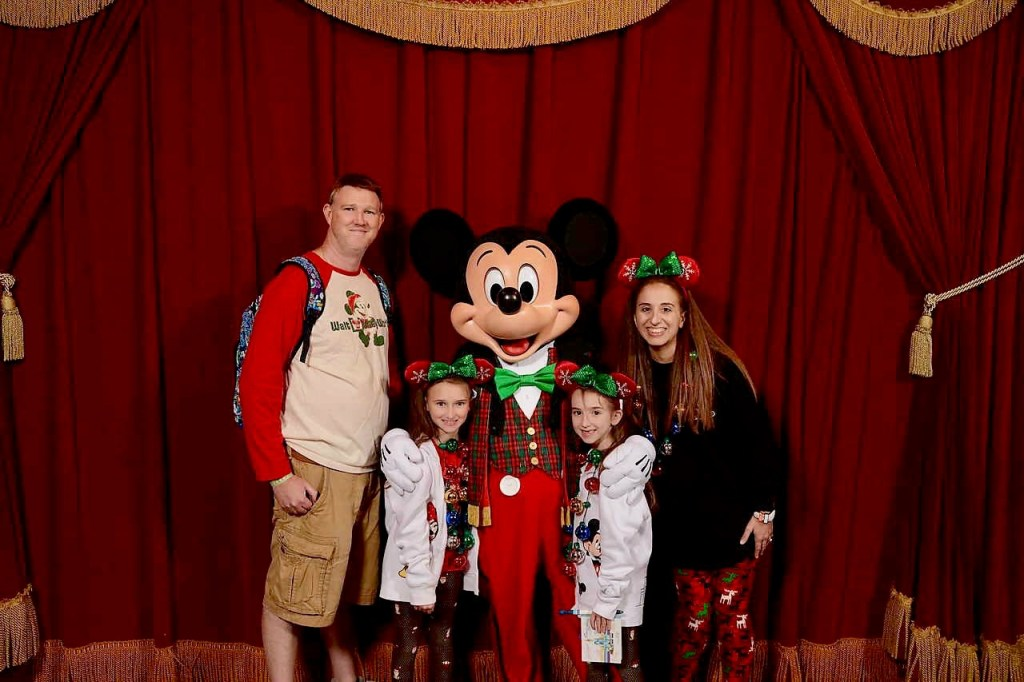 With Mickey Mouse at Mickeys Very Merry Christmas Party 2018