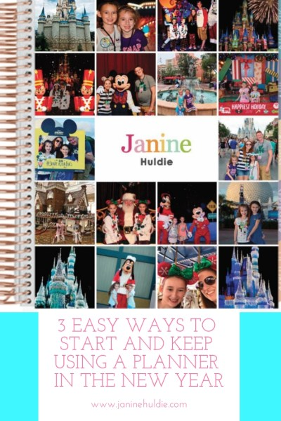 3 Easy Ways to Start and Keep Using A Planner in the New Year