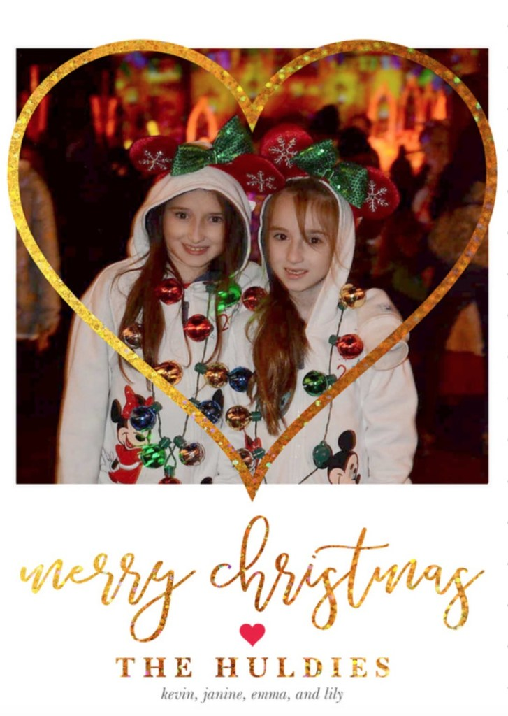 Front of 2018 Christmas Card