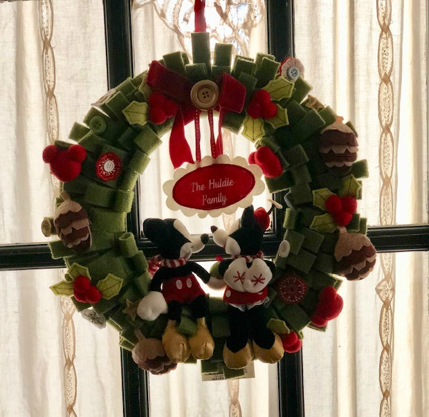 Mickey and Mouse Christmas Wreath