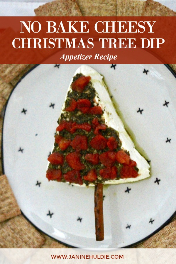 No Bake Cheesy Christmas Tree Dip Appetizer Recipe Featured Image