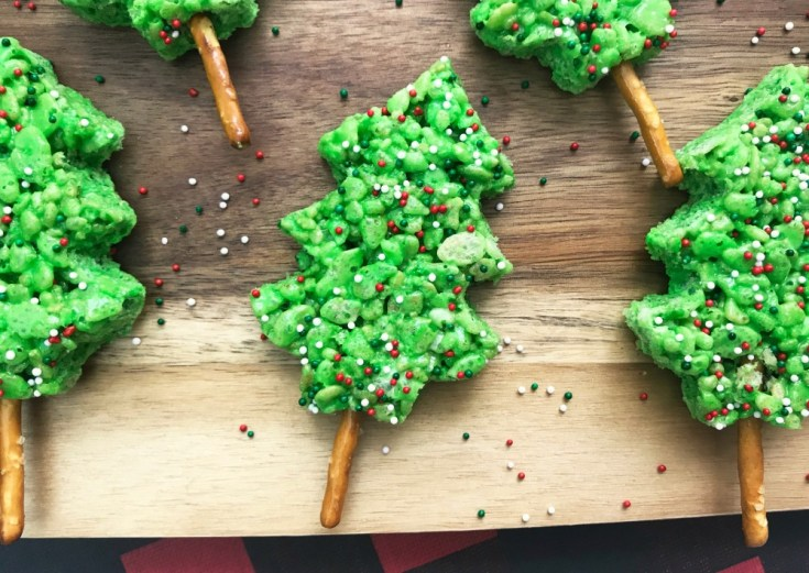 Rice Krispie Christmas Tree Treats Recipe
