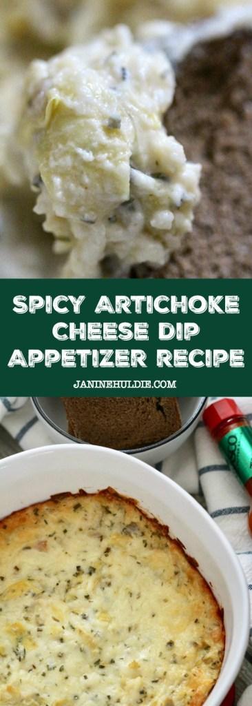 Spicy Artichoke Cheese Dip Appetizer Recipe