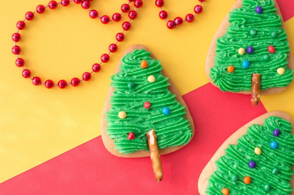 The Easiest Christmas Tree Cookies Horizontal 3