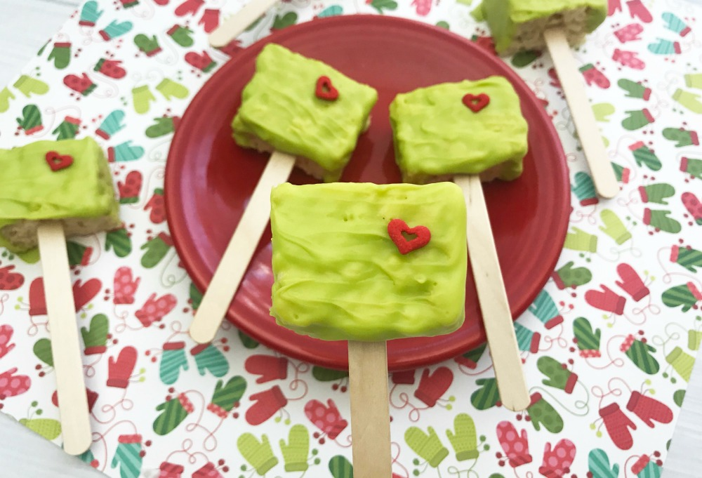 The Grinch Rice Krispie Treats Horizontal 3