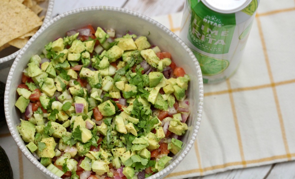 Cucumber Tomato Salad with Avocados from Mexico with RITAS