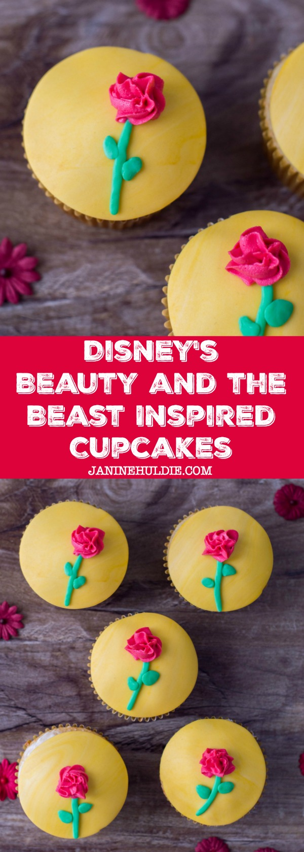 Disney's Beauty and the Beast Inspired Cupcakes Recipe
