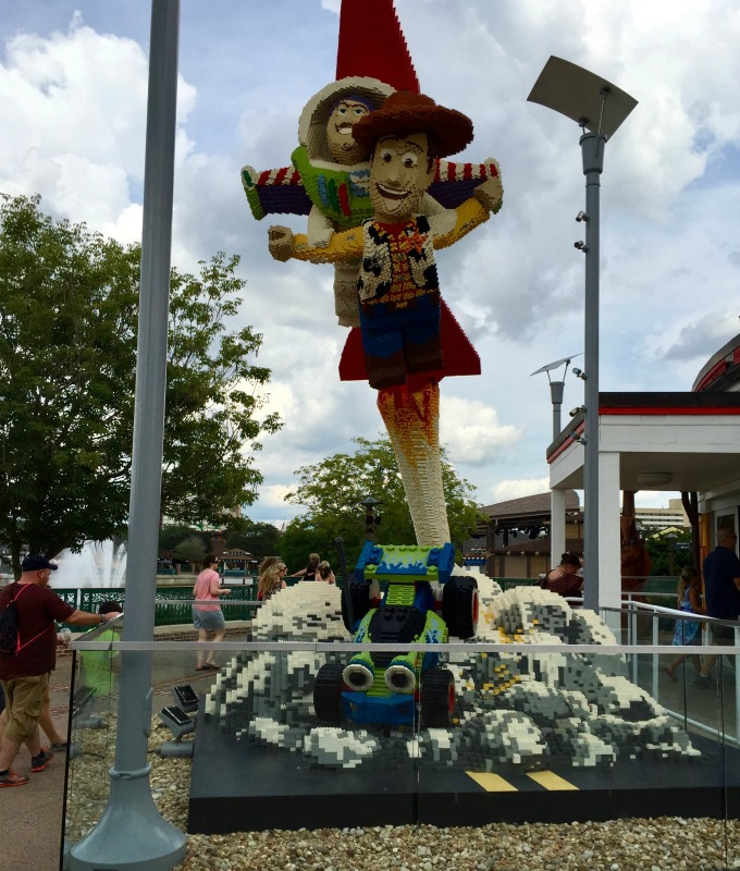 Downtown Disney Outside Lego Store with Toy Story Characters