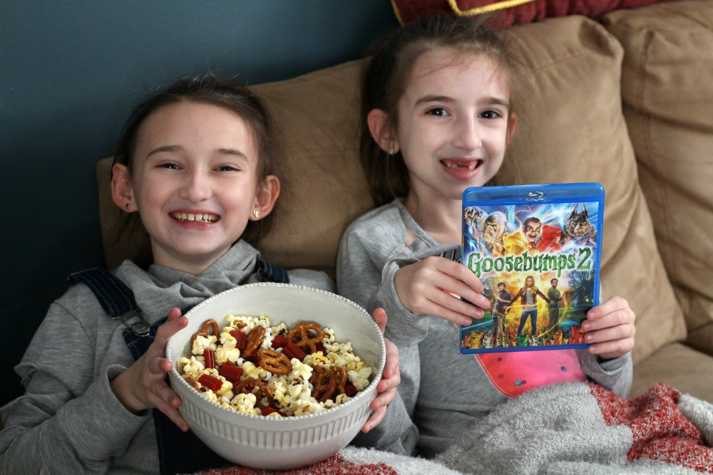 Girls getting ready for Goosebumps 2 Movie Night