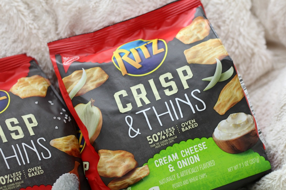 RITZ Crisp and Thins Cream Cheese and Onion