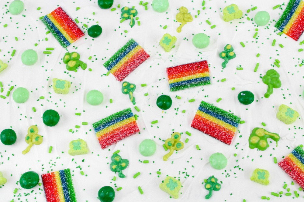 St. Patrick's Day Bark Candy Recipe In Process 7