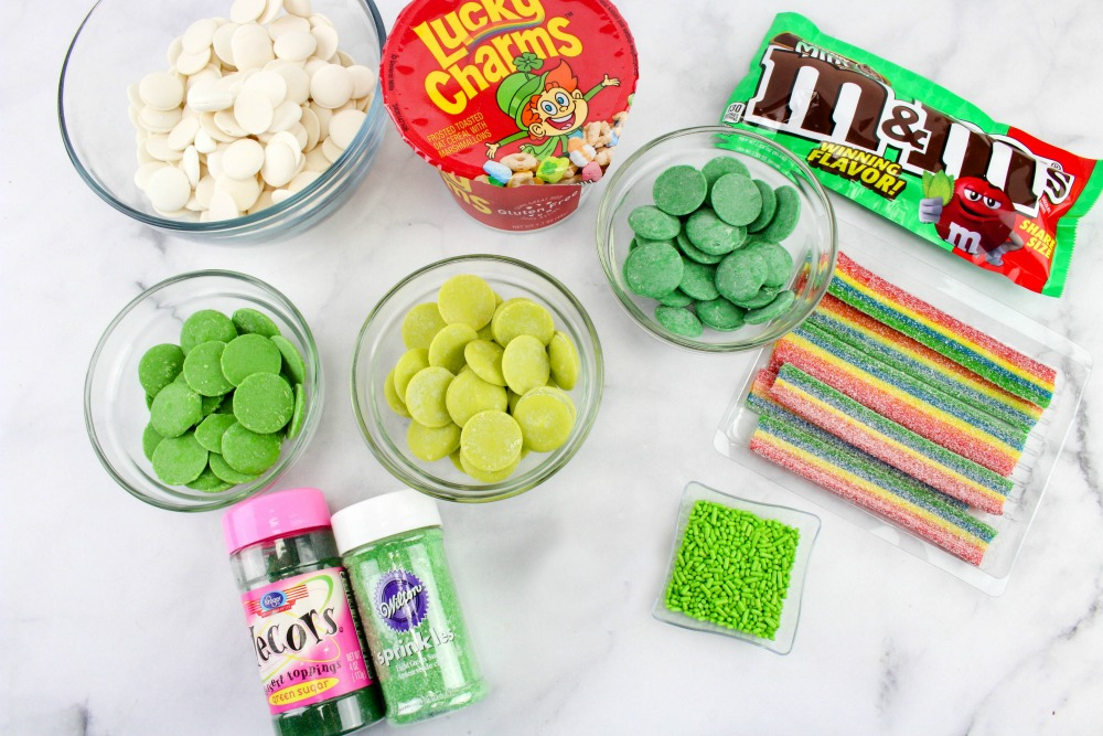 St. Patrick's Day Bark Candy Recipe Ingredients