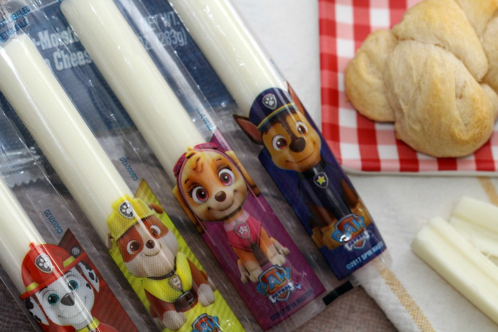 Closeup of Open Package of Paw Patrol Cheese Characters