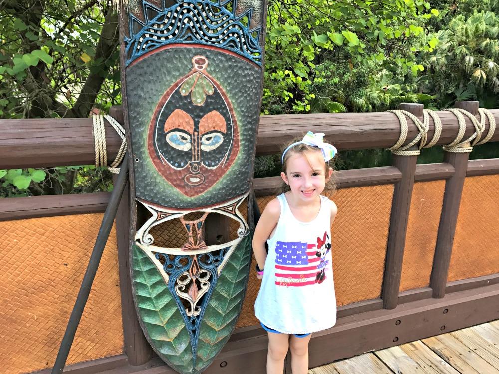 Magic Kingdom in Front Tiki in Adventureland