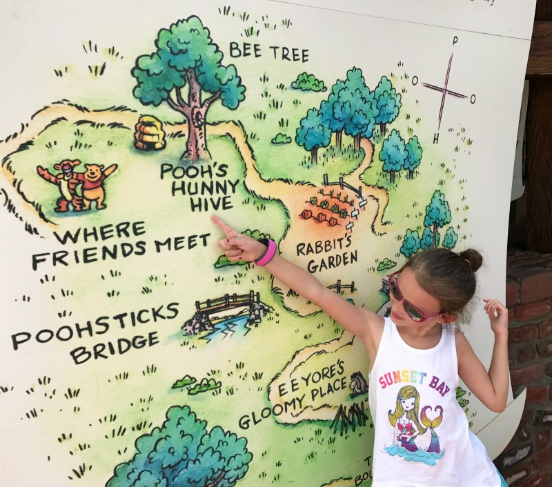 Walt Disney World Magic Kingdom Winnie the Pooh Map
