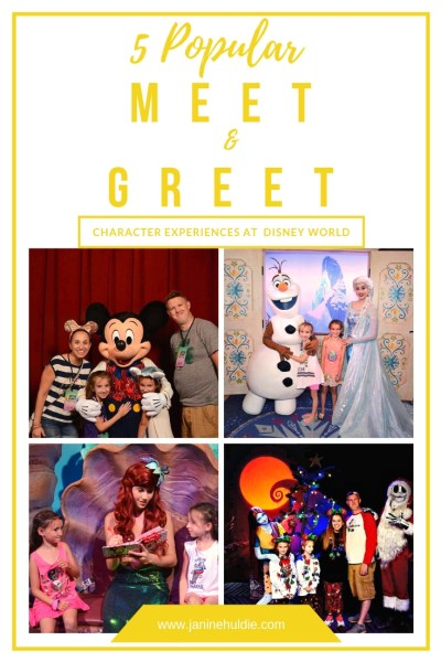 5 Most Popular Character Meet and Greet at Disney World