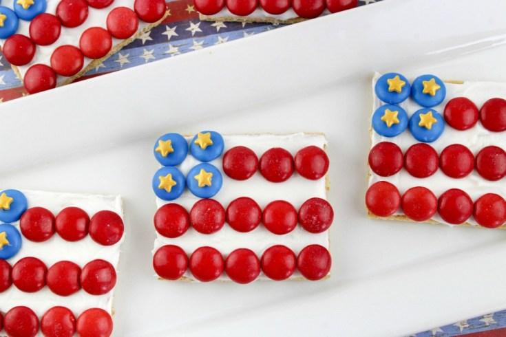 American Flag Graham Cracker Patriotic Treats