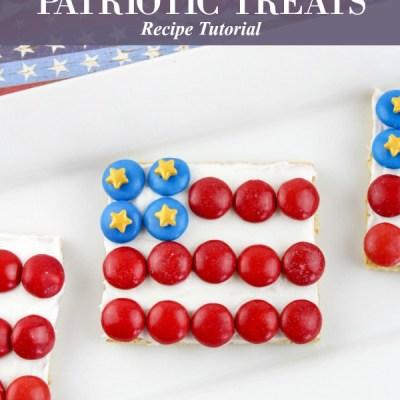 American Flag Patriotic Graham Cracker Patriotic Treats Recipe Featured Image