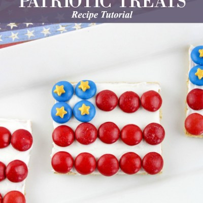 American Flag Patriotic Graham Cracker Patriotic Treats Recipe Featured Image