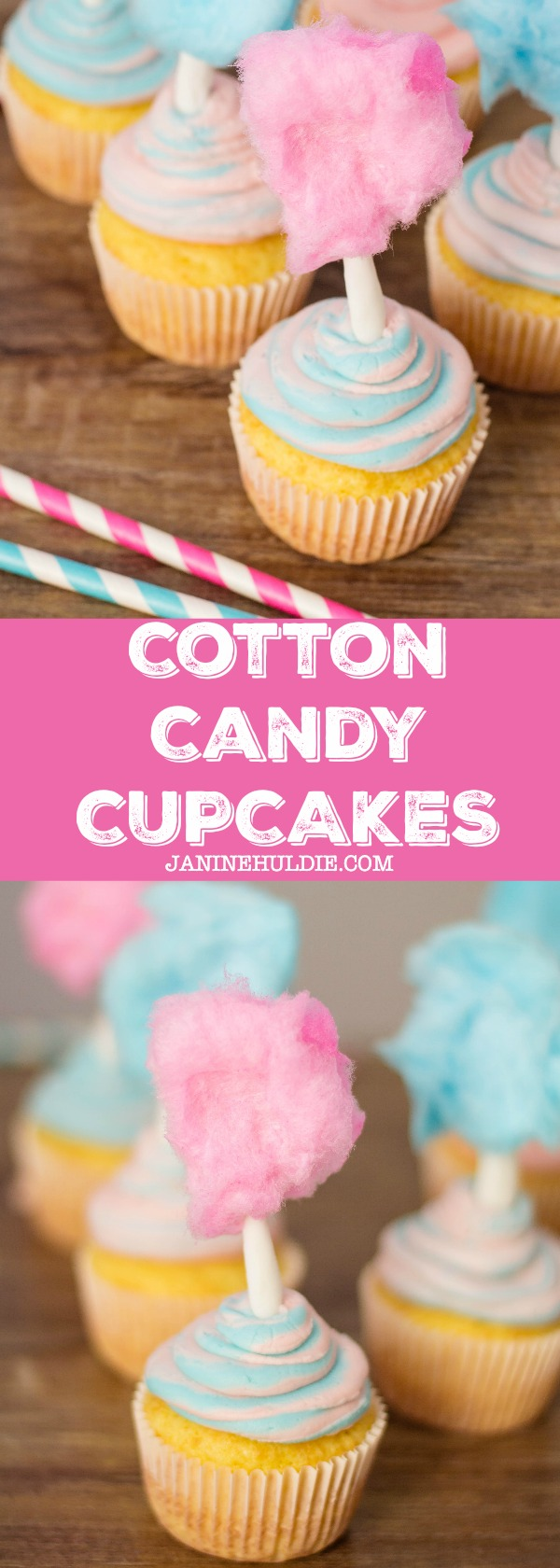 Cotton Candy Cupcakes Recipe