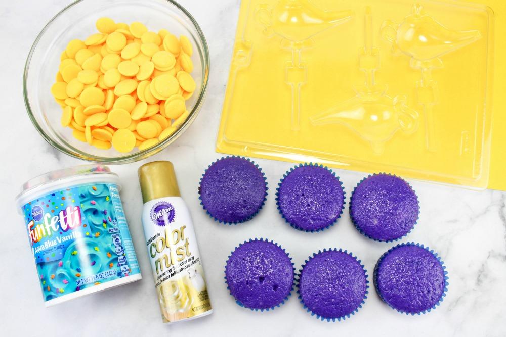 Disney Aladdin Cupcakes What's Needed