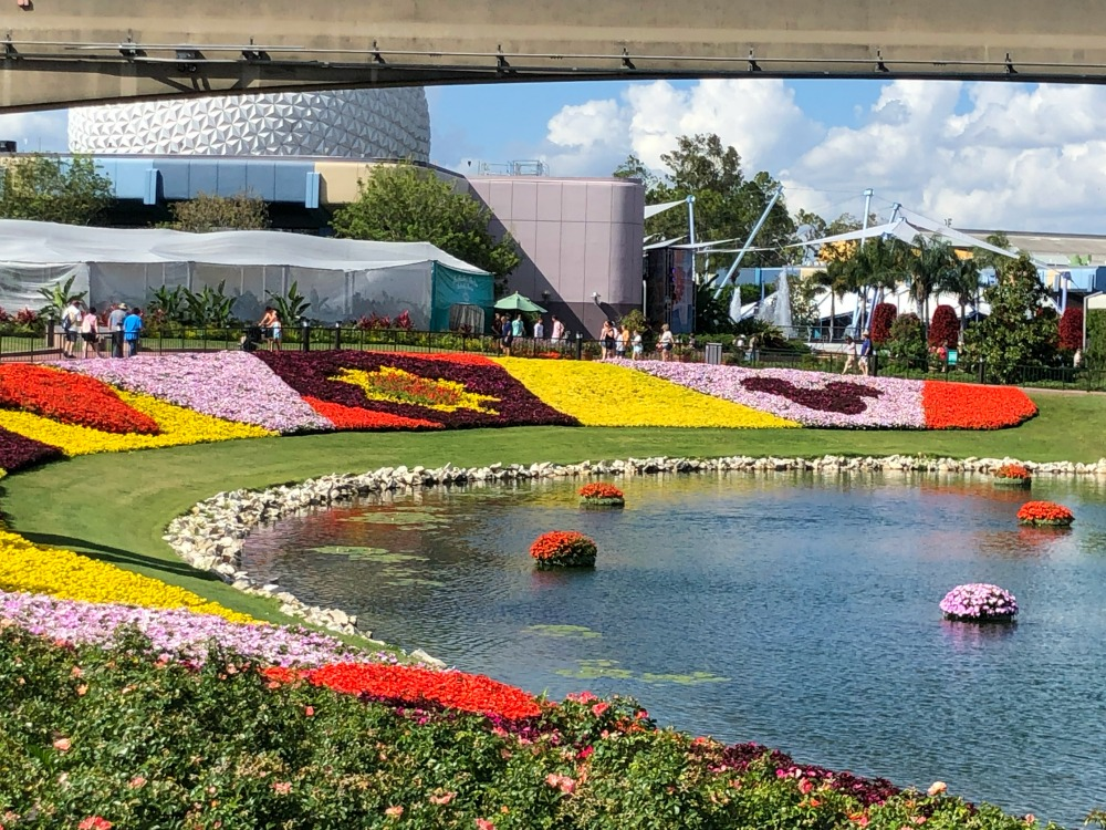 Epcot Flower and Garden Festival Flowers Heading into World Showcase