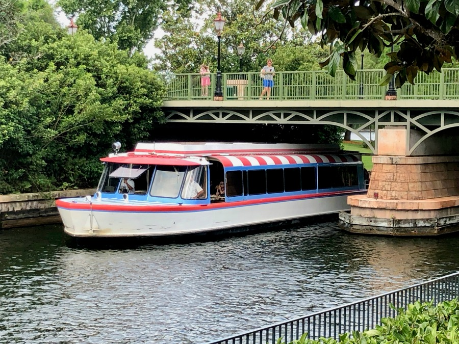 Friendship Boat at Epcot Out of The World Showcase