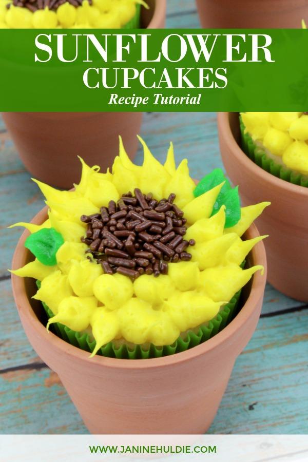 Sunflower Cupcakes Recipe Featured Image