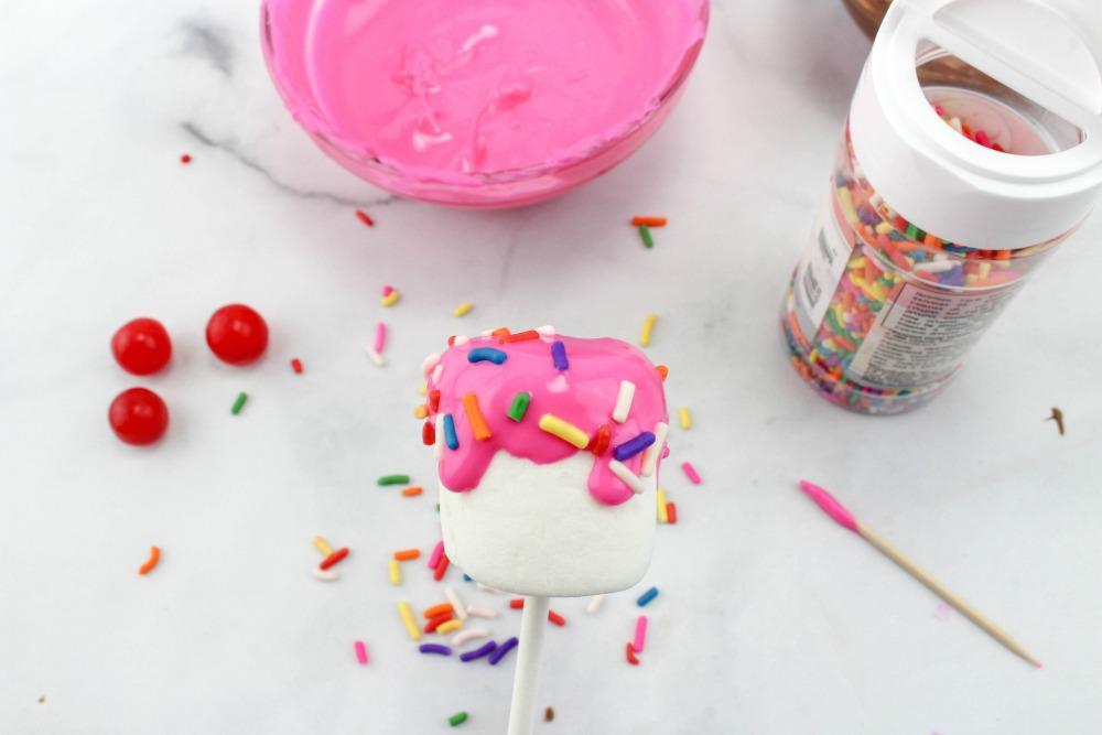 Sundae Marshmallow Pops In Process 6
