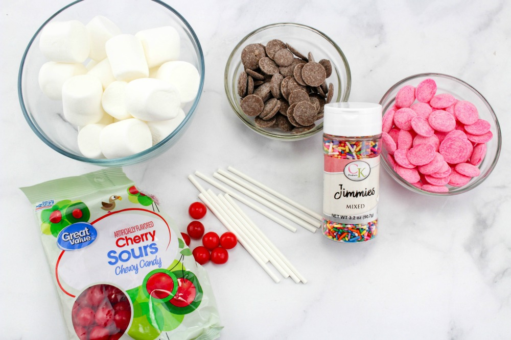 Sundae Marshmallow Pops Ingredients