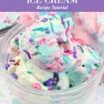 Cotton Candy Ice Cream Recipe Tutorial So Easy to Make