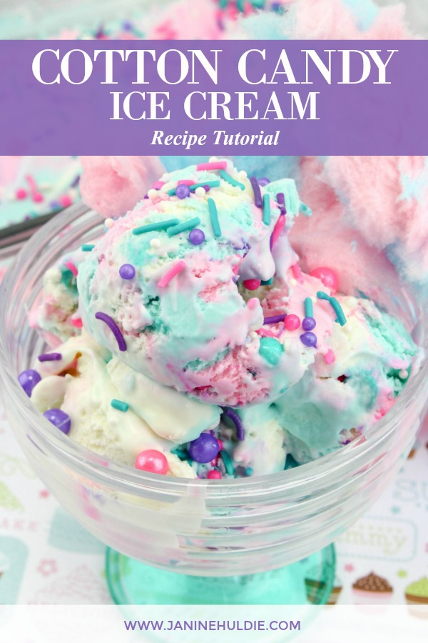 Cotton Candy Ice Cream Recipe Featured Image