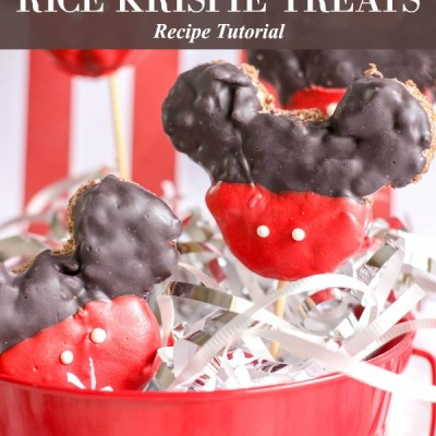 Mickey Mouse Rice Krispie Treats Recipe Featured Image