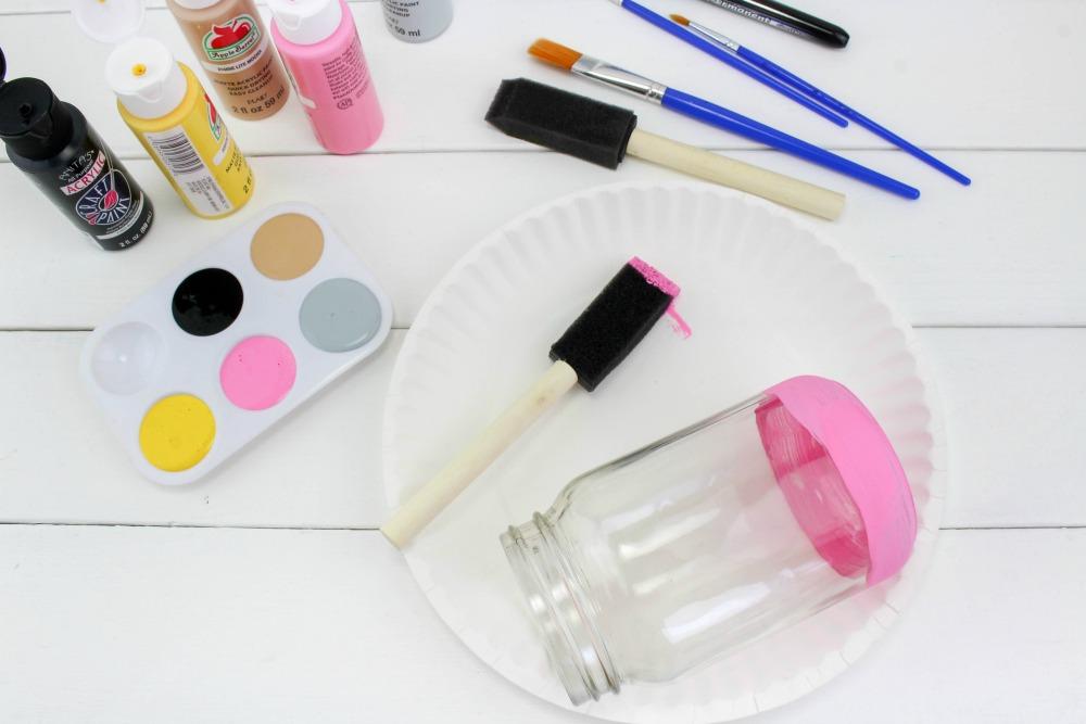 Back to School Pencil Mason Jar Craft In Process 1