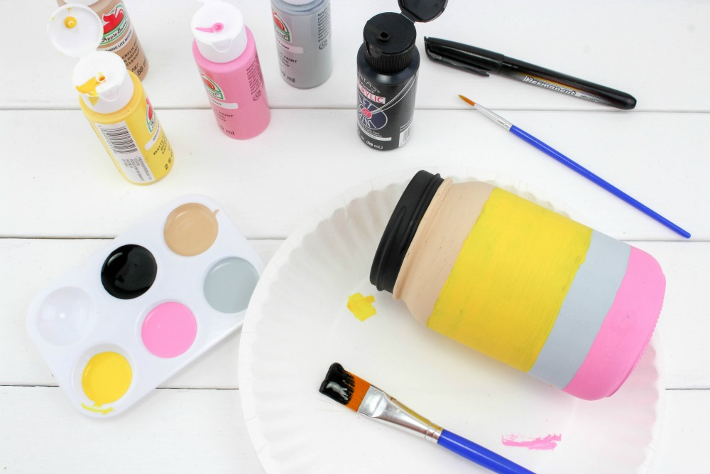Back to School Pencil Mason Jar Craft In Process 3