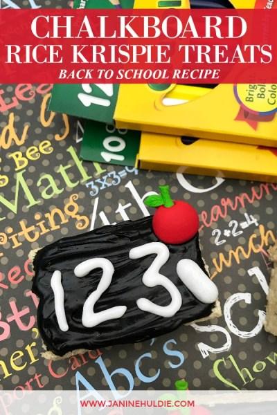 Chalkboard Rice Krispie Treats Recipe 2Featured Image