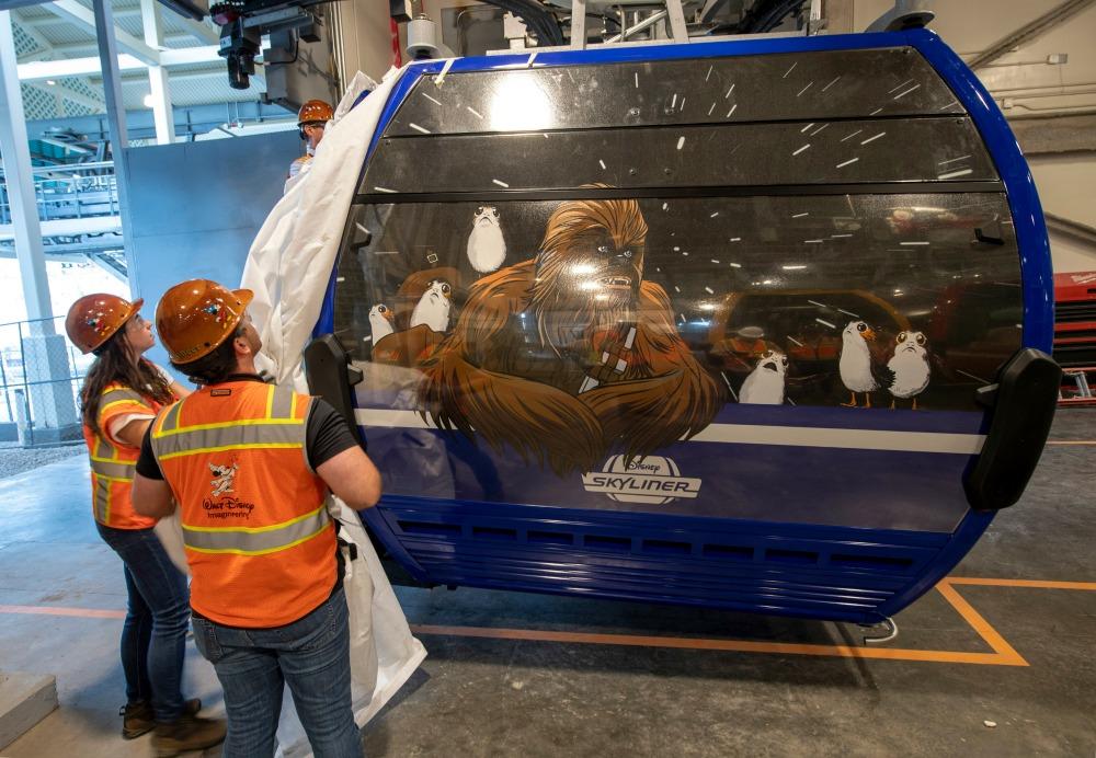 Disney Skyliner Unveiling Chewbachca