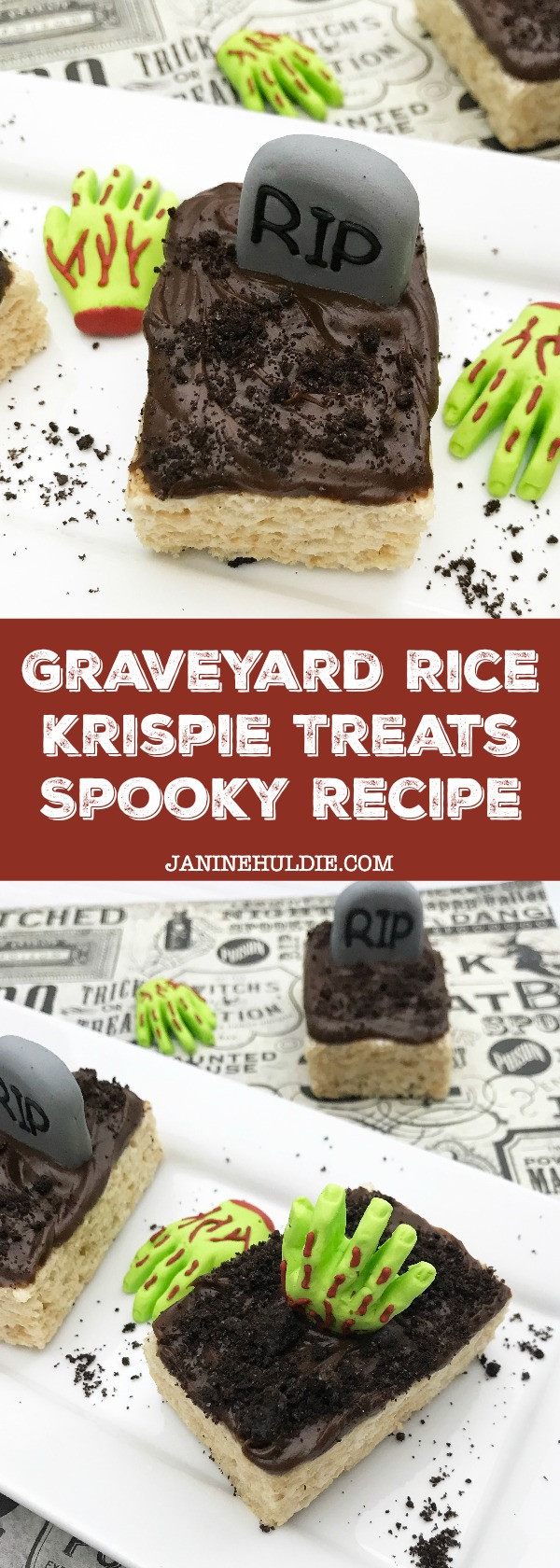 Graveyard Rice Krispie Treats Spooky Recipe