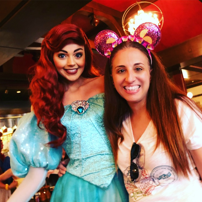 Little Mermaid at Bon Voyage Breakfast at Disneys Boardwalk