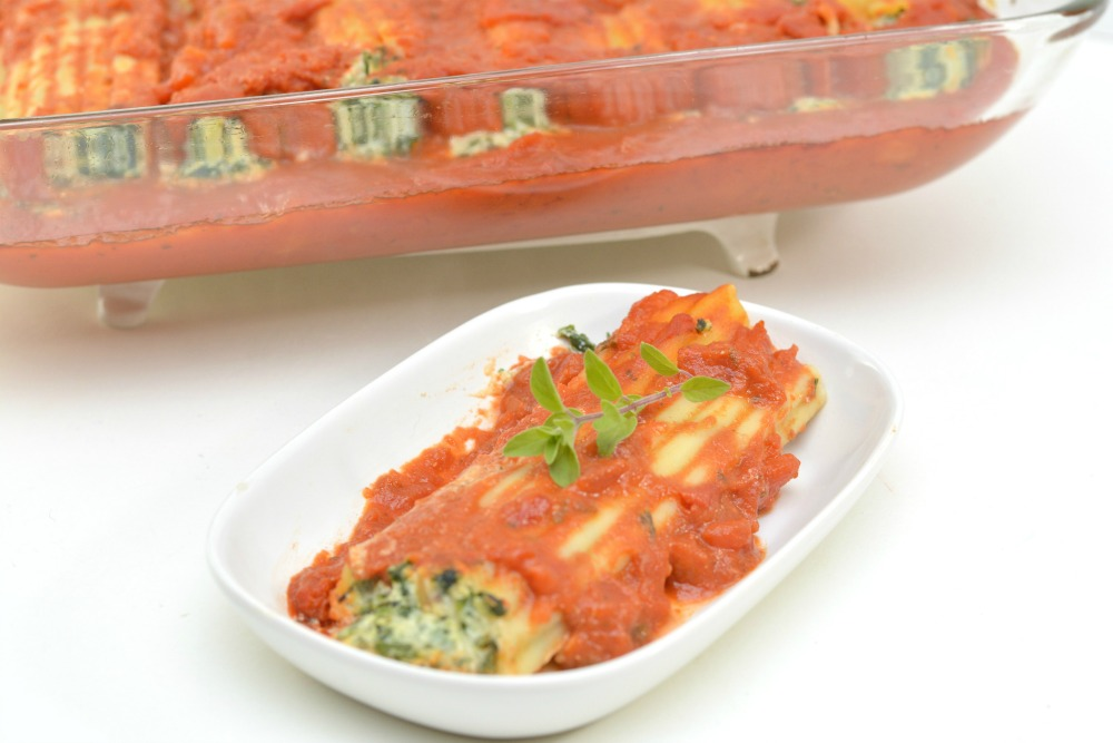 Spinach and Ricotta Manicotti Recipe 1