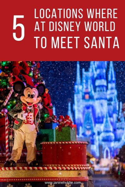 5 Locations Where to Meet Santa at Disney World