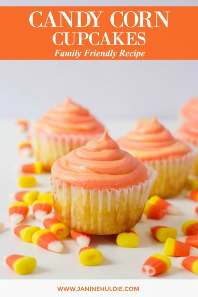 Candy Corn Cupcakes Recipe Featured Image