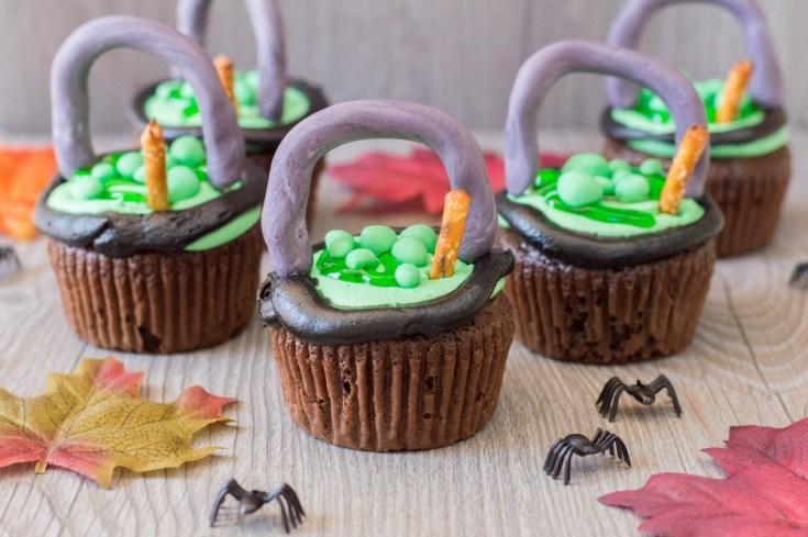 Witch Cauldron Cupcakes Recipe Tutorial