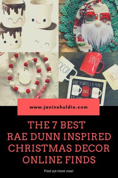 THE 7 BEST RAE DUNN INSPIRED CHRISTMAS DECOR ONLINE FINDS