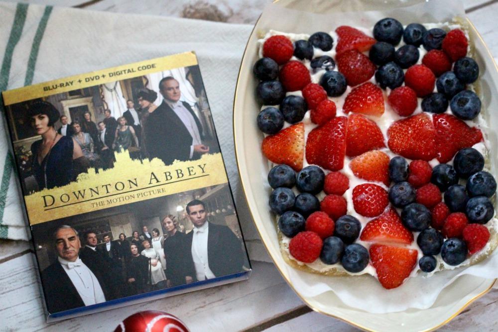 Downton Abbey DVD and Union Jack Flag Fruit Cake